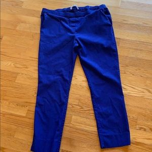 Royal blue pull on pants cropped size XL